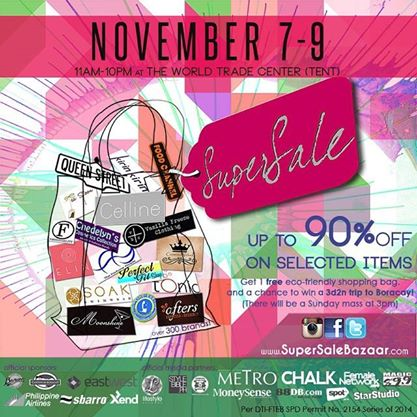 SuperSale Bazaar @ World Trade Center November 2014