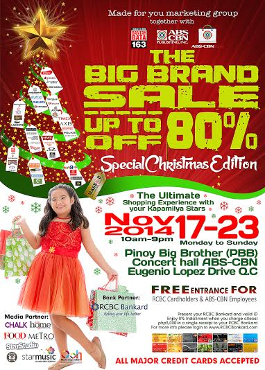 The Big Brand Sale @ PBB Concert Hall November 2014