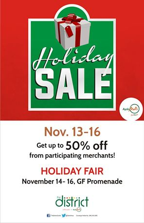 The District Cavite Holiday Sale November 2014