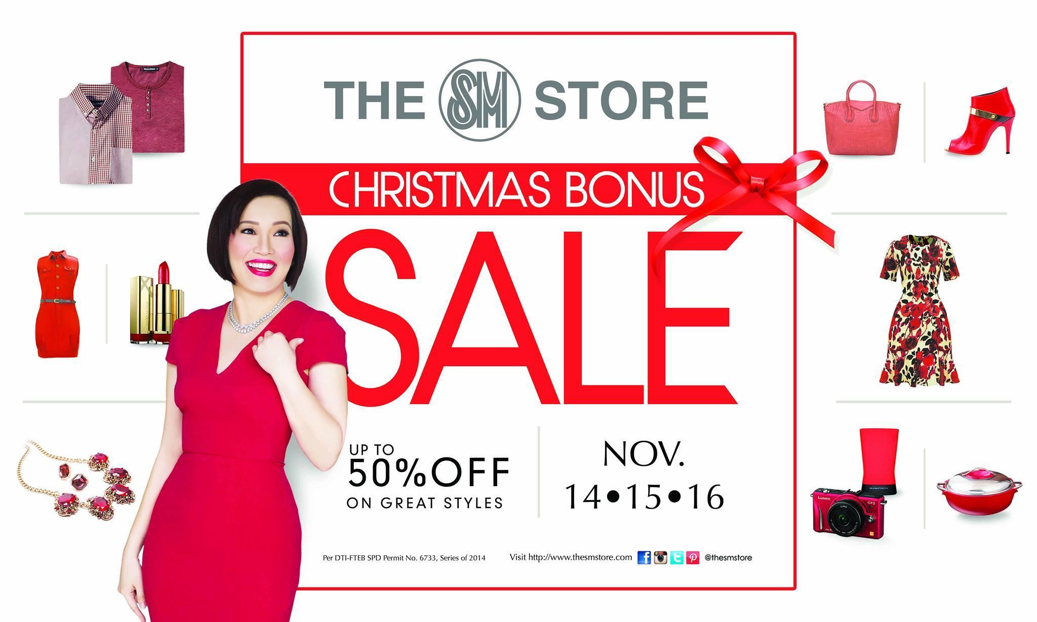 The SM Store Christmas Bonus Sale November 2014
