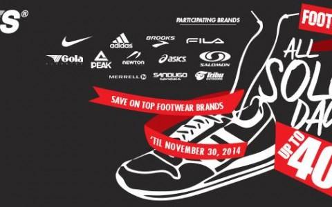 Toby's Sports Footwear Sale November 2014