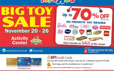 Toys R Us Big Toy Sale @ Alabang Town Center November 2014