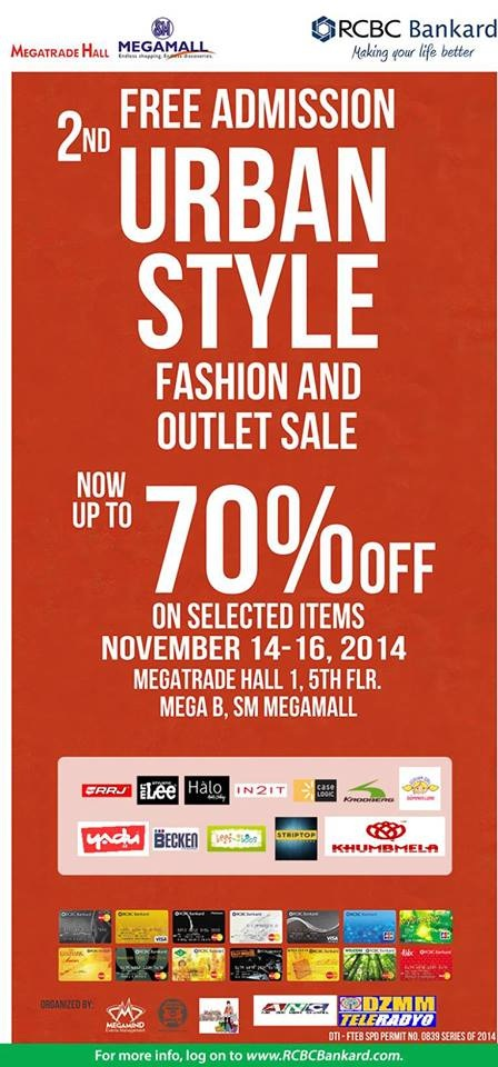 Urban Style Fashion and Outlet Sale @ SM Megatrade Hall November 2014