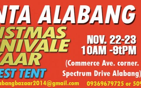 Zonta Alabang Christmas Carnivale Bazaar @ Filinvest Tent November 2014