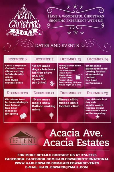 Acacia Christmas Story Bazaar @ Acacia Estates December 2014