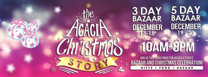 Acacia Christmas Story Bazaar @ Acacia Estates December 2014