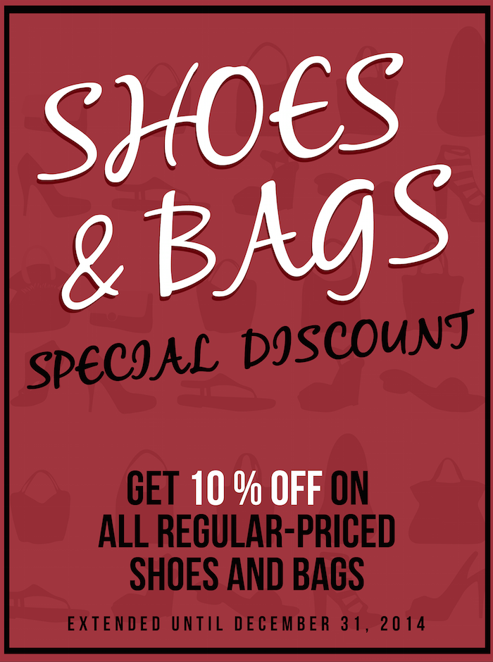 Bayo Shoes & Bags Special Discount Promo December 2014