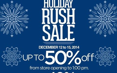 Bric's Holiday Rush Sale December 2014