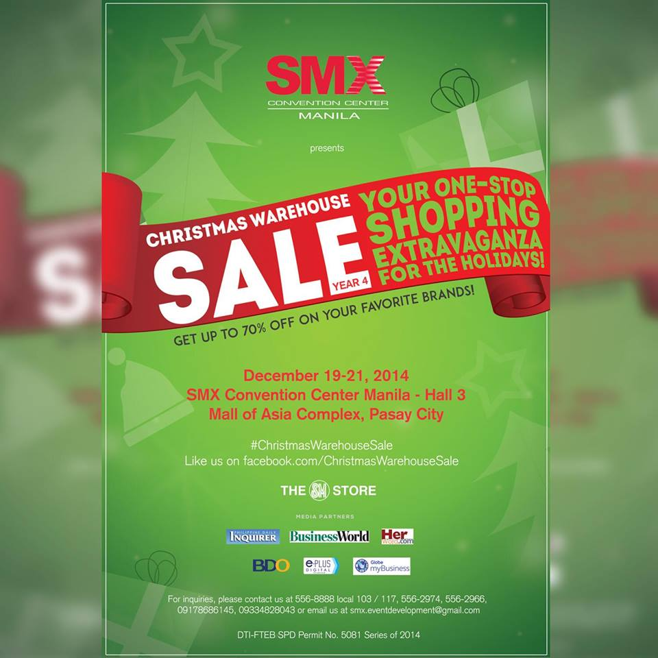 Christmas Warehouse Sale @ SMX Convention Center December 2014