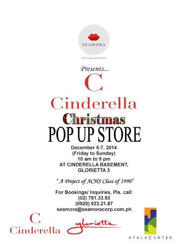Cinderella Christmas Popup Store @ Glorietta 3 December 2014