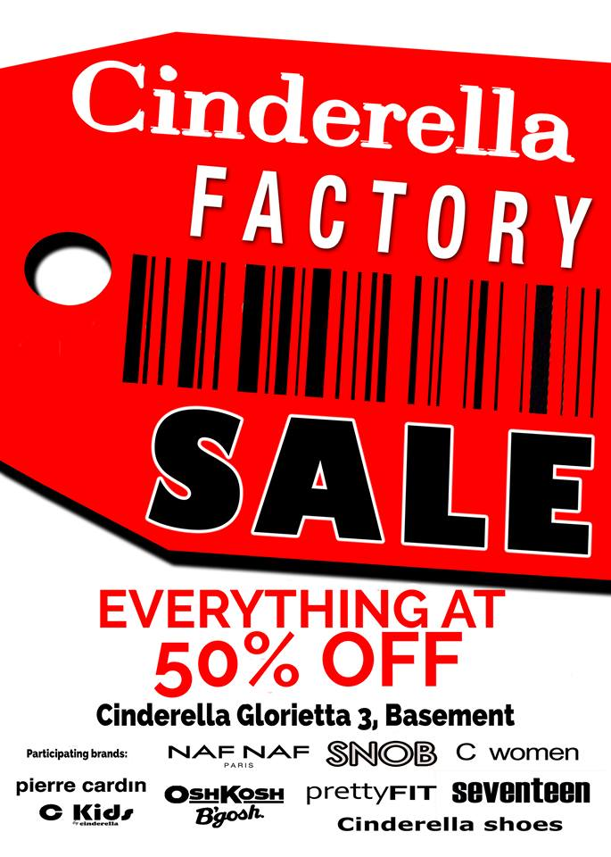 Cinderella Factory Sale @ Glorietta 3 December 2014
