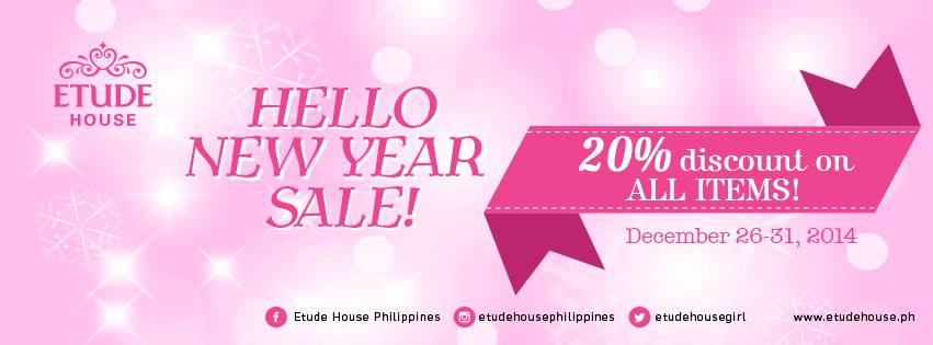 Etude House Hello New Year Sale December 2014