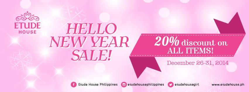 Etude House Hello New Year Sale December 2014