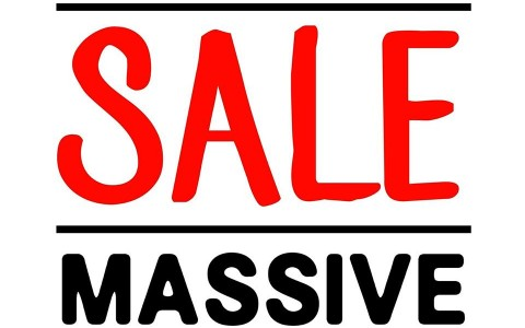 Folded and Hung Massive Sale December - January 2015