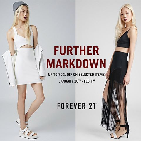 Forever 21 End of Season Sale - Further Markdowns
