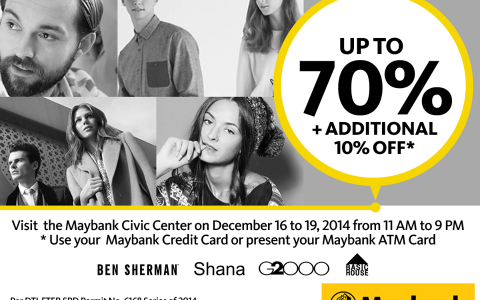 G2000, Ben Sherman, Shana, Basic House Sale @ Maybank Civic Center December 2014