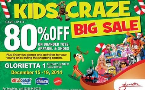 Kids Craze Big Sale @ Glorietta 1 December 2014