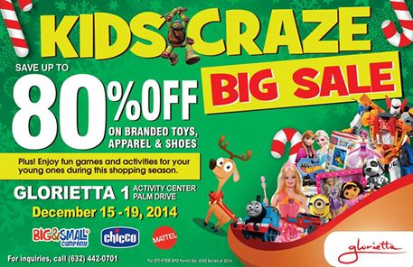 Kids Craze Big Sale @ Glorietta 1 December 2014