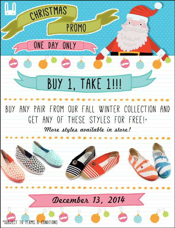 Le Bunny Bleu Buy 1 Take 1 Christmas Promo December 2014