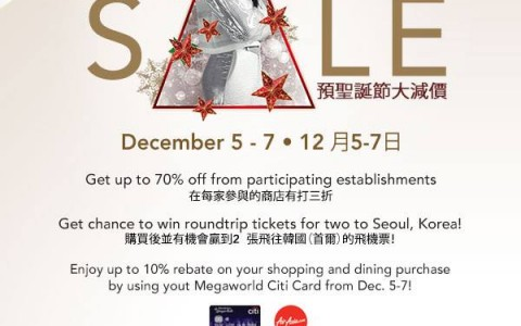 Lucky Chinatown Mall Pre-Holiday Sale December 2014