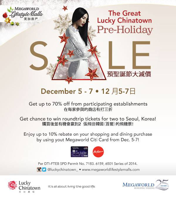 f8919bdedbca Lucky Chinatown Mall s Pre-Holiday Sale  December 5 – 7