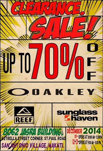 Oakley Clearance Sale @ JASRA Building December 2014