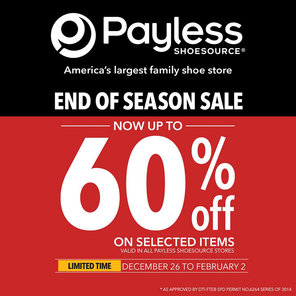 Payless Shoesource End Of Season Sale December - February 2015