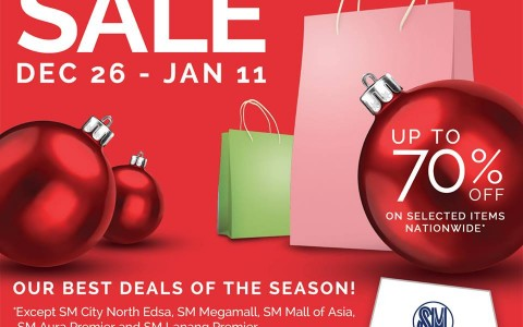 SM Supermalls End of Season Sale December - January 2015
