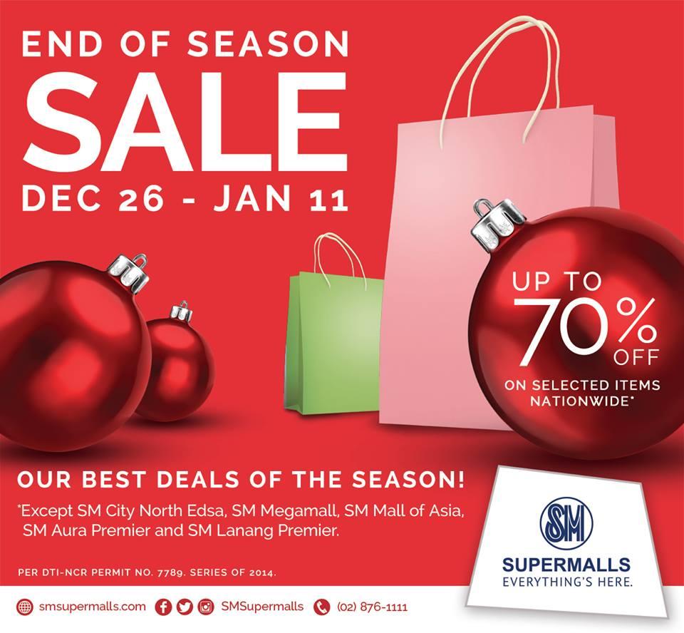 SM Supermalls End of Season Sale December - January 2015