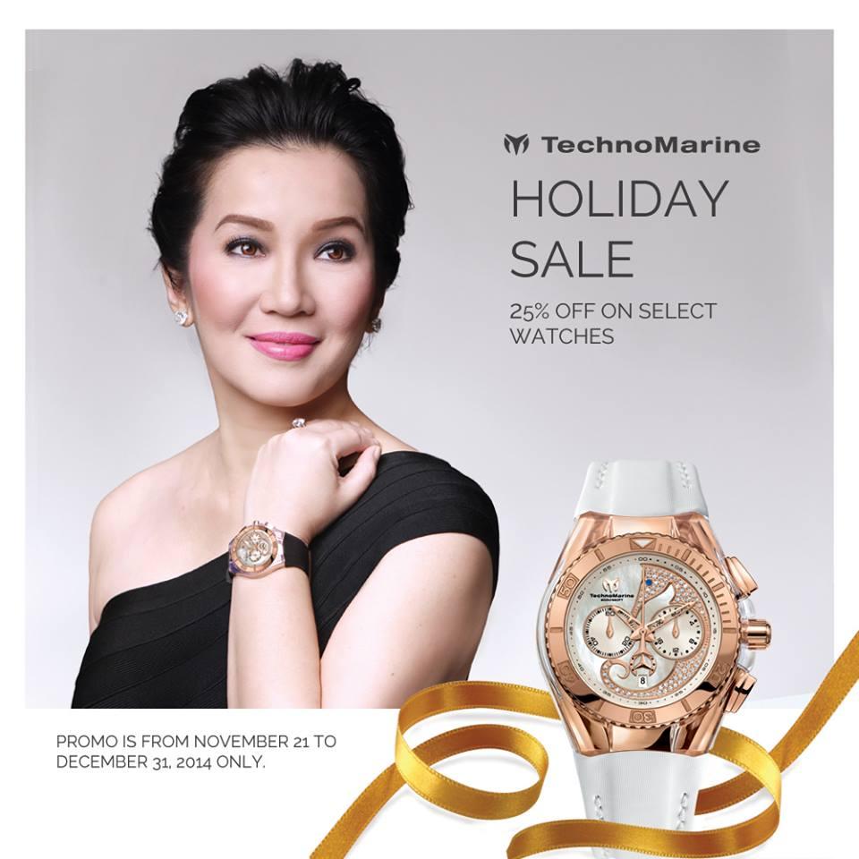 Technomarine Holiday Sale November - December 2014