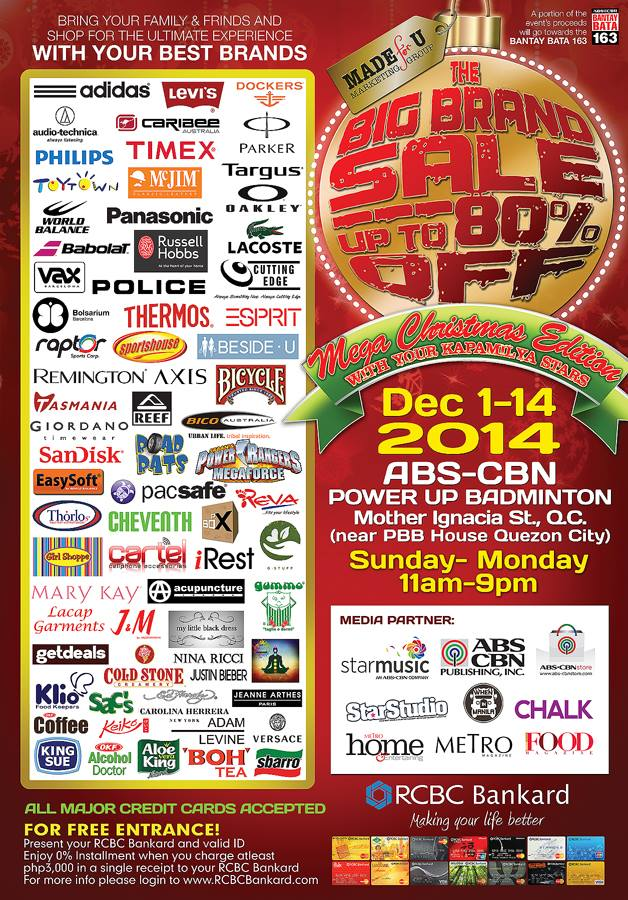 The Big Brand Sale @ ABS-CBN Power Up Badminton Center December 2014