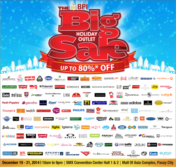 The Big Holiday Outlet Sale @ SMX Convention Center December 2014