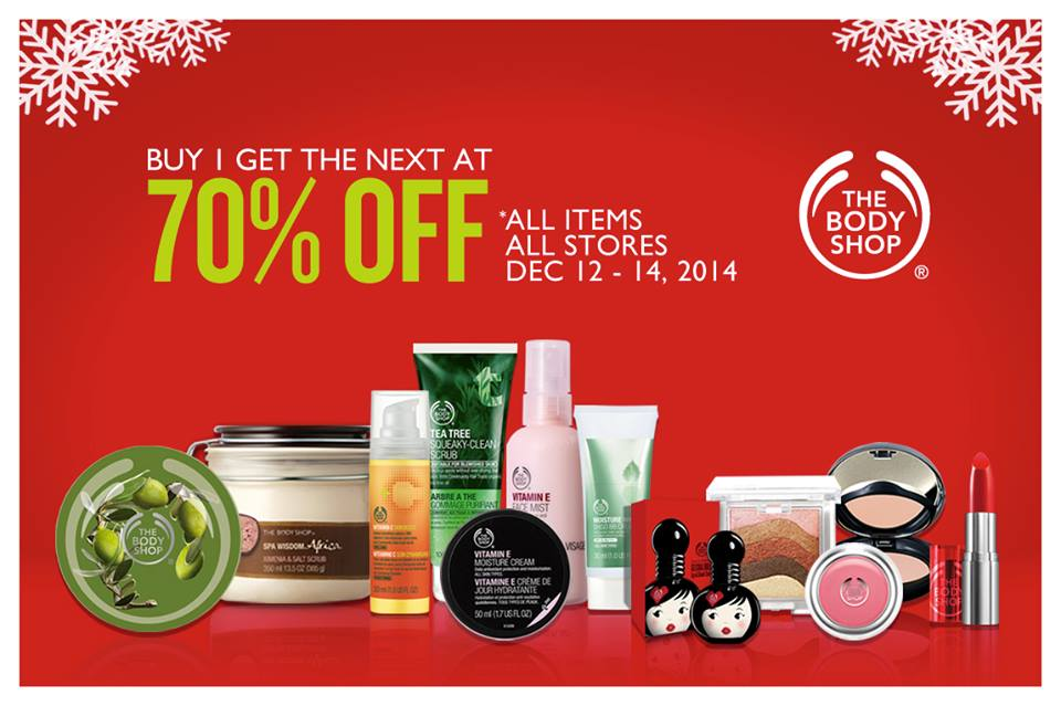 The Body Shop Weekend Promo December 2014