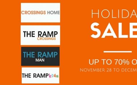 The Ramp Crossings Holiday Sale November - December 2014