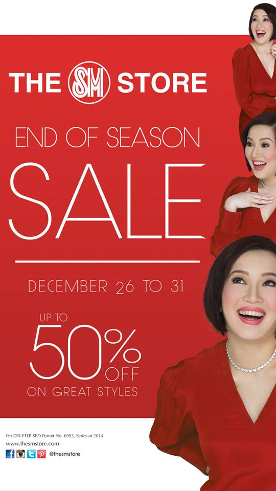 The SM Store End of Season Sale December 2014