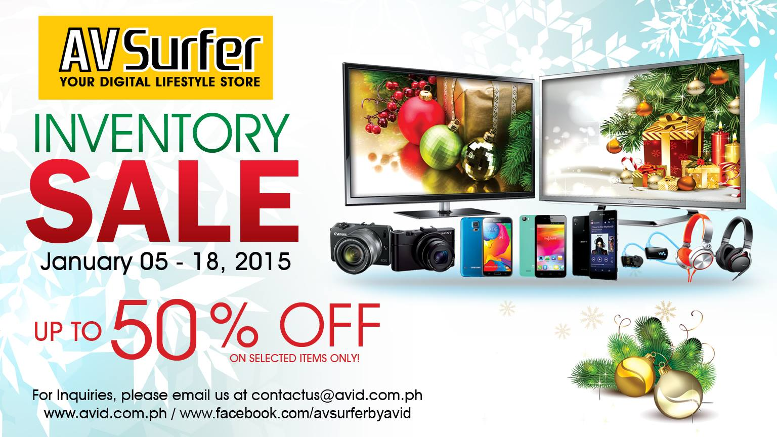 AV Surfer Inventory Sale January 2015