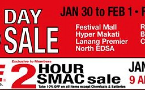 Ace Hardware 3-Day Sale January - February 2015
