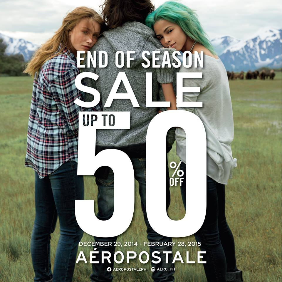Aeropostale End of Season Sale January - February 2015