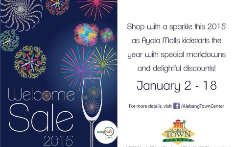 Alabang Town Center Welcome 2015 Sale January 2015