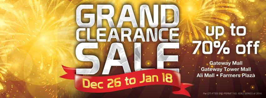 Araneta Center Grand Clearance Sale December - January 2015
