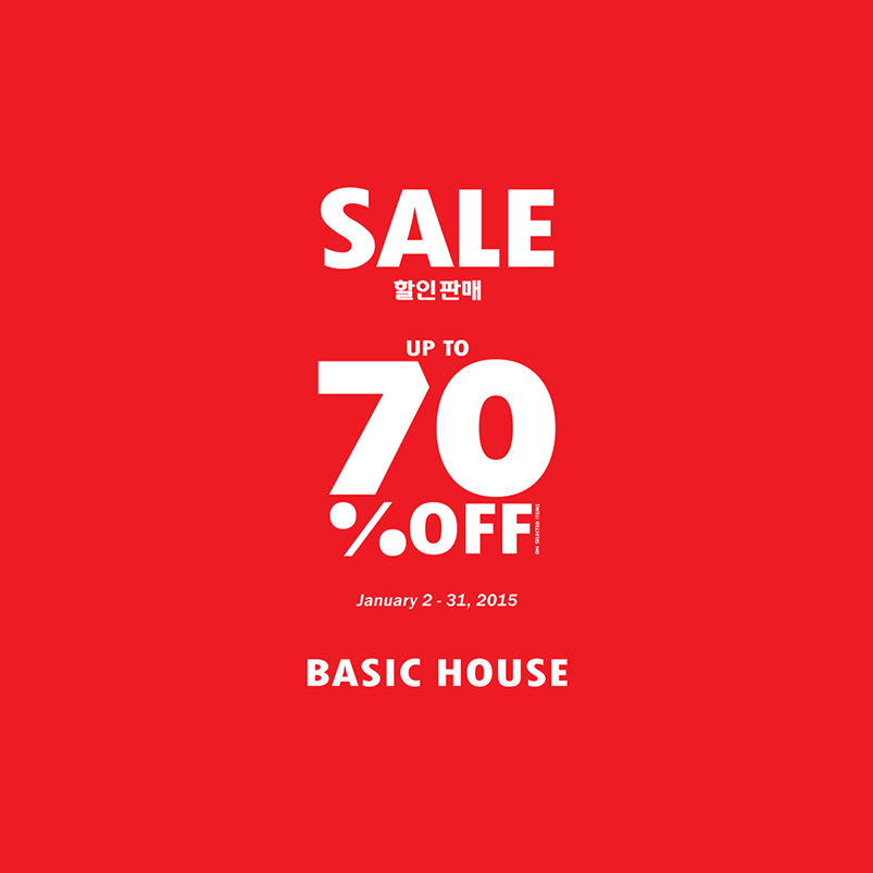 Basic House End of Season Sale January 2015