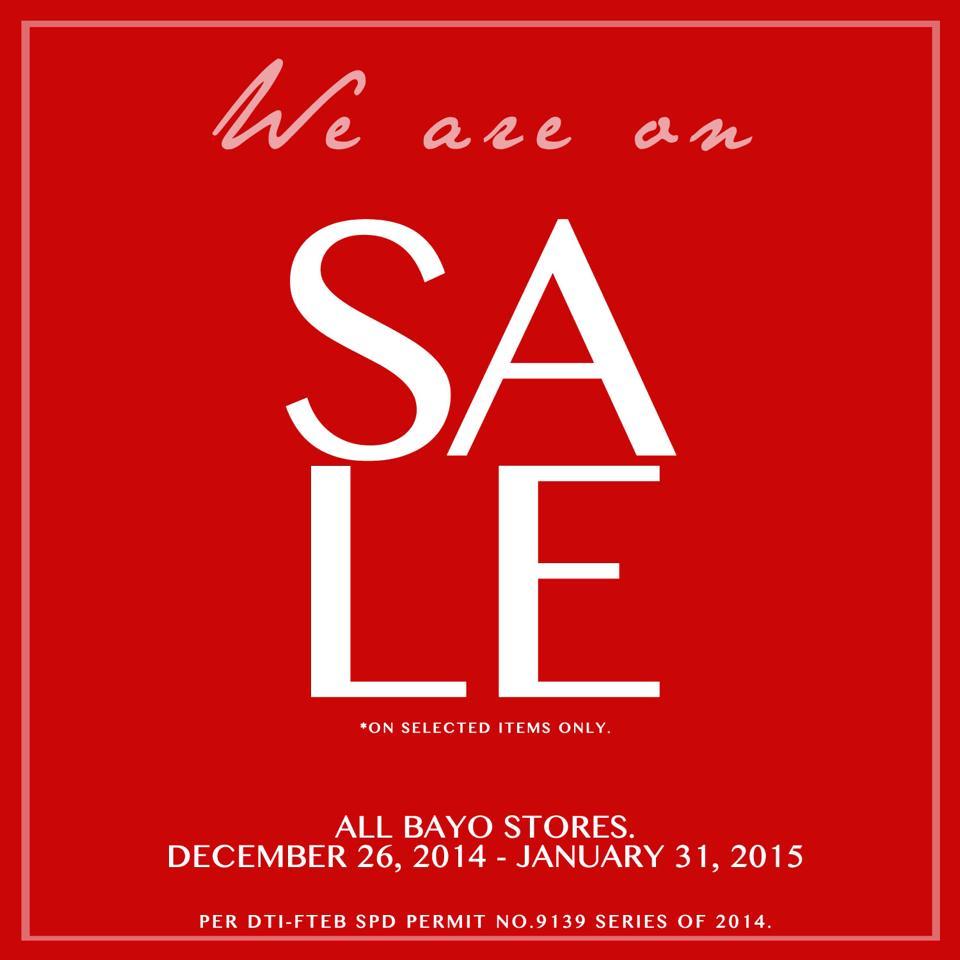 Bayo Sale December - January 2015