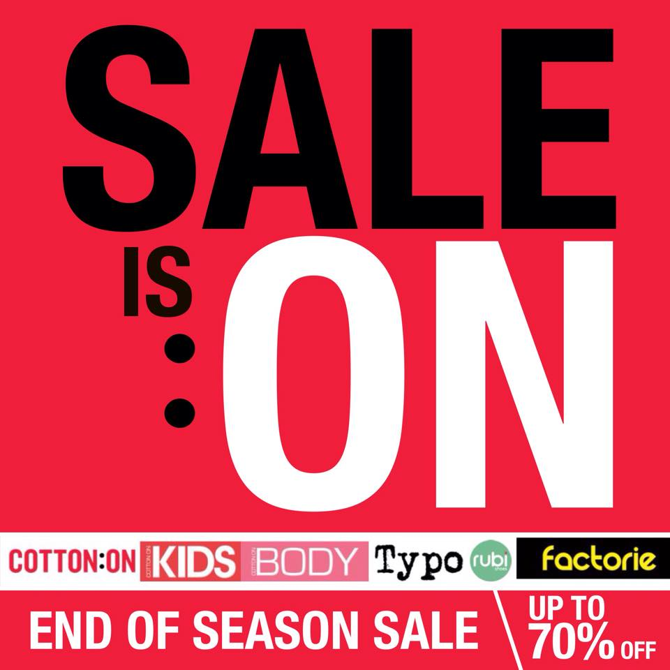 Cotton On End of Season Sale December - January 2015