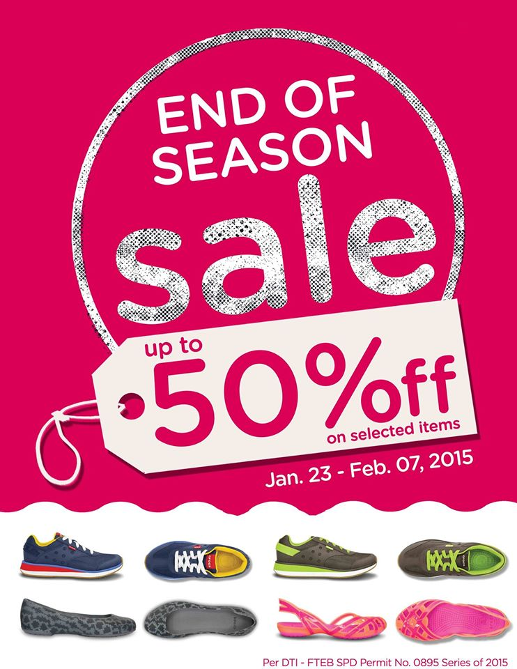 Crocs End of Season Sale January - February 2015