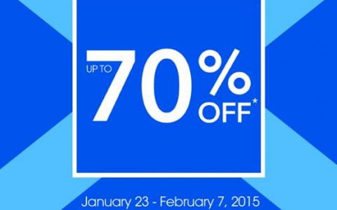 Debenhams Blue Cross Sale January - February 2015
