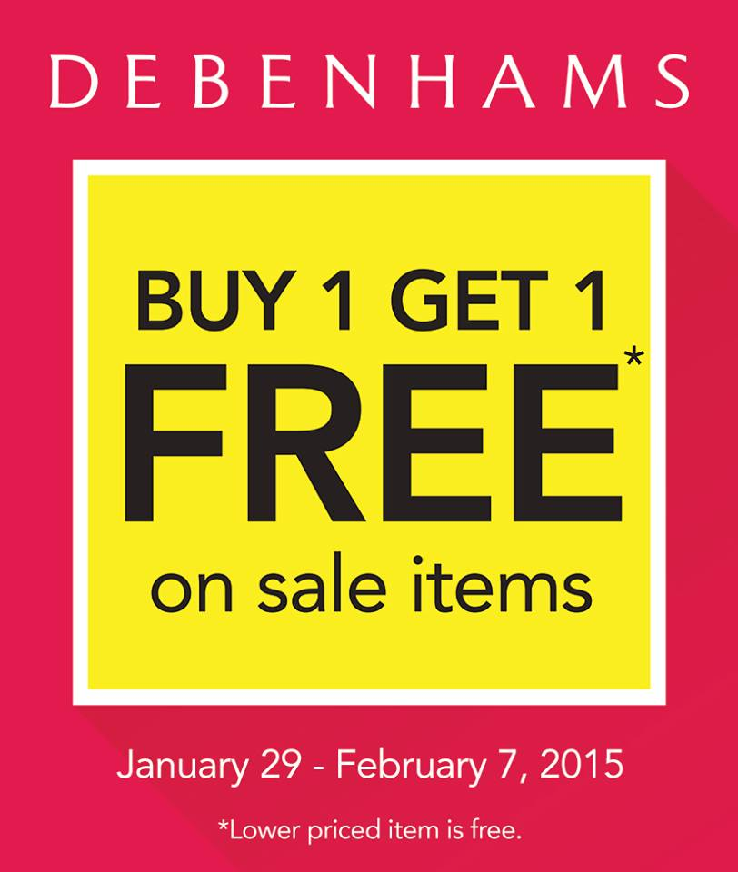 Debenhams Buy 1 Get 1 Free January - February 2015