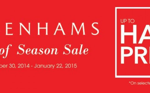 Debenhams End of Season Sale December - January 2015