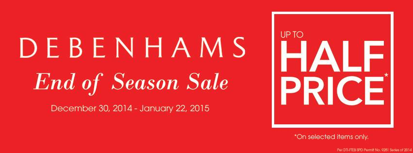 Debenhams End of Season Sale December - January 2015