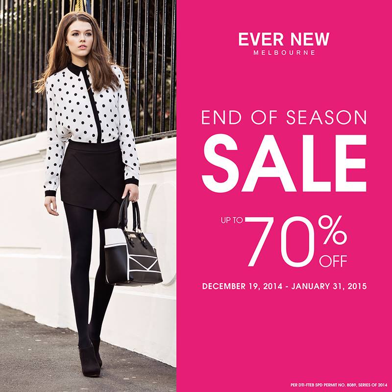Ever New End of Season Sale December - January 2015