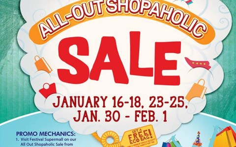 Festival Supermall All Out Shopaholic Sale January - February 2015